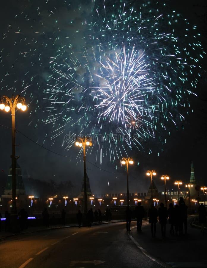Fajerwerk w Moskwa zdjęcia stock