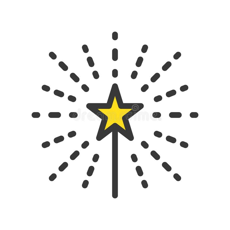 Fajerwerk, Wesoło boże narodzenia odnosić sie ikona set, wypełniający konturu desig royalty ilustracja