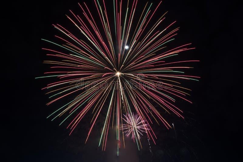 Fajerwerki dla nowego roku świętowania fotografia stock