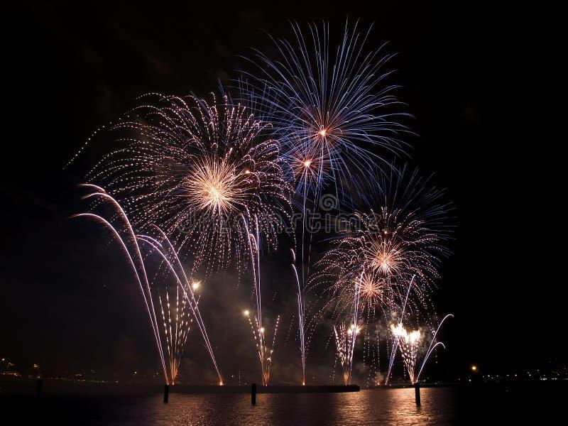fajerwerki festiwali/lów Singapore obrazy royalty free