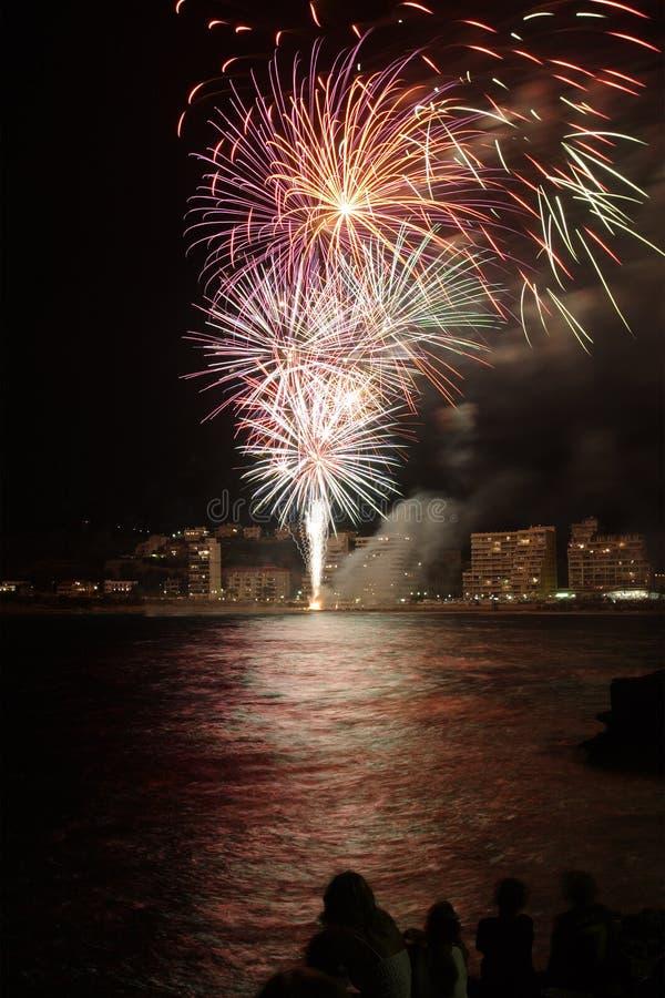 fajerwerki Hiszpanii zdjęcie stock