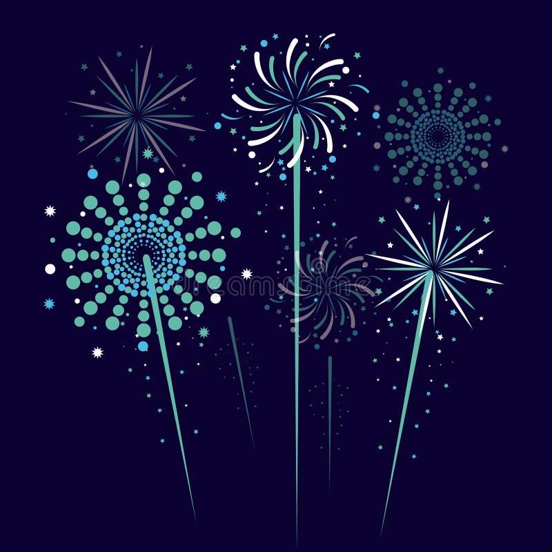Fajerwerki i świętowanie ilustracji