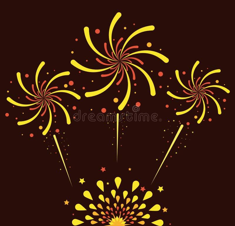 Fajerwerki i świętowanie royalty ilustracja