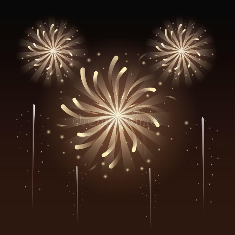 Fajerwerki i świętowanie ilustracja wektor