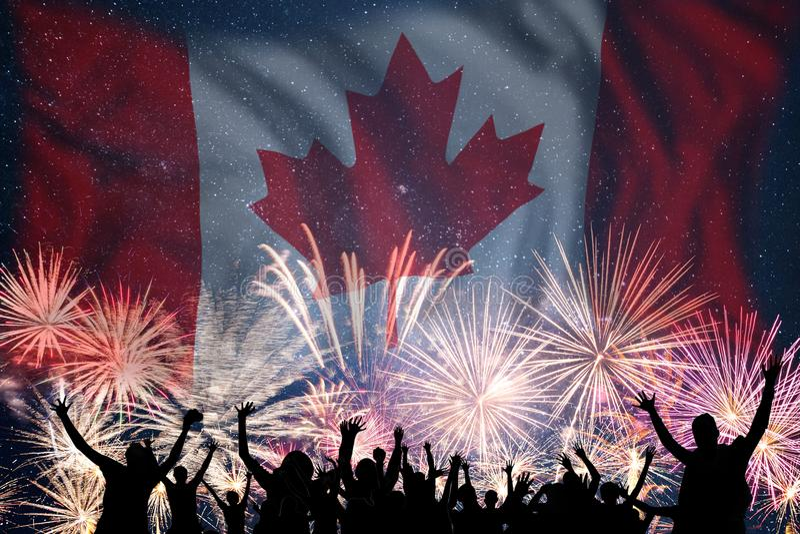 Fajerwerki na dniu Kanada obrazy stock