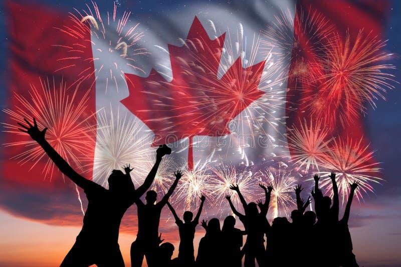 Fajerwerki na dniu Kanada obraz royalty free