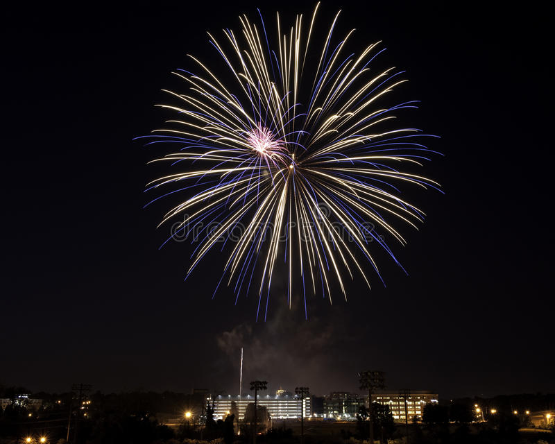 fajerwerki nad Roanoke va zdjęcia stock