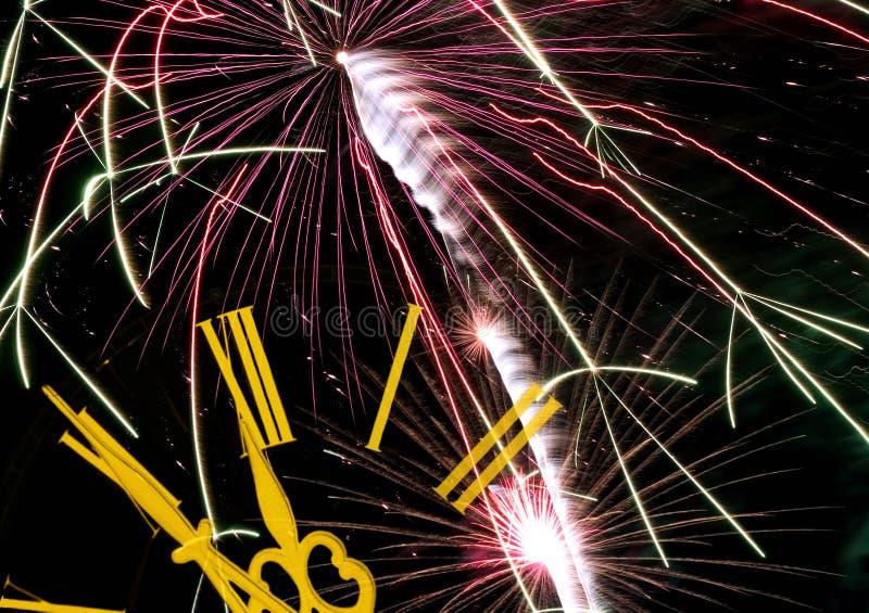 fajerwerki oblewania nowego roku obrazy stock