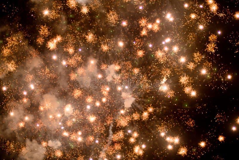 Fajerwerki przy nocą w niebie 11 zdjęcie royalty free