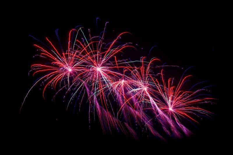 Fajerwerki przy nowy rok wigilią obraz stock
