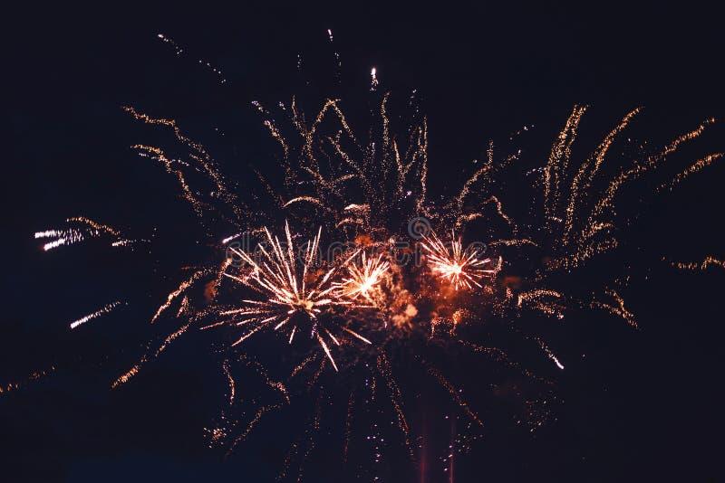 Fajerwerki przy nowym rokiem zdjęcie royalty free