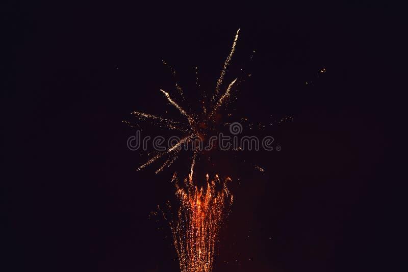 Fajerwerki przy nowym rokiem obrazy stock
