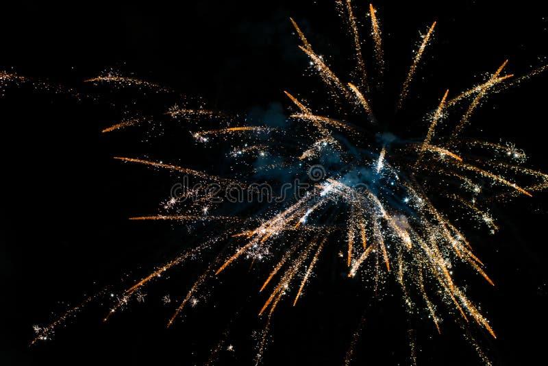 Fajerwerki w nocnym niebie zdjęcie royalty free