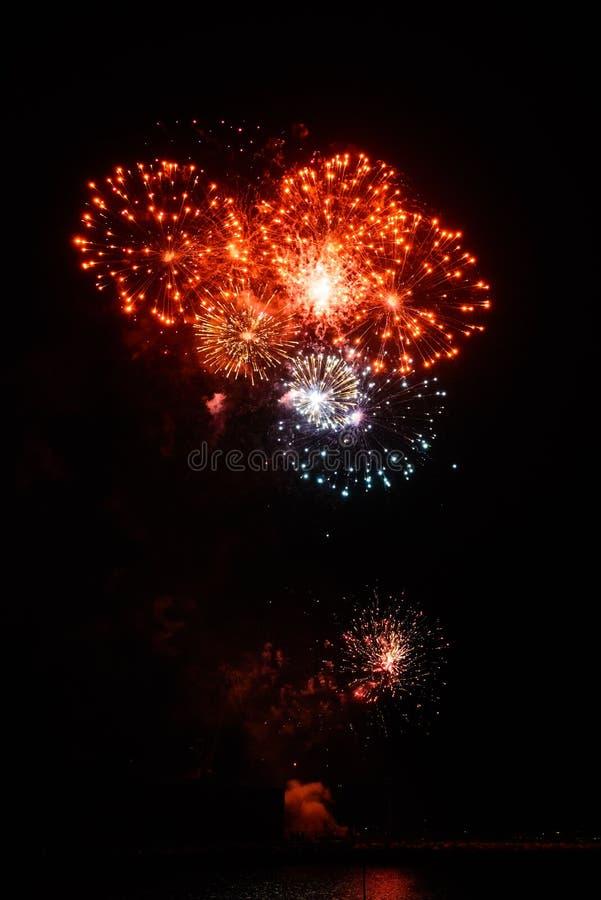 Fajerwerki w nocnym niebie obraz royalty free