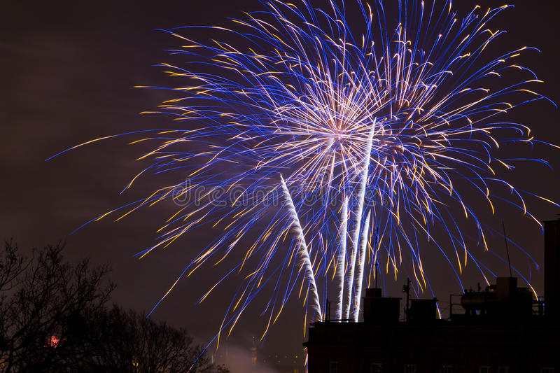 Fajerwerki wystawiają na nowy rok wigilii