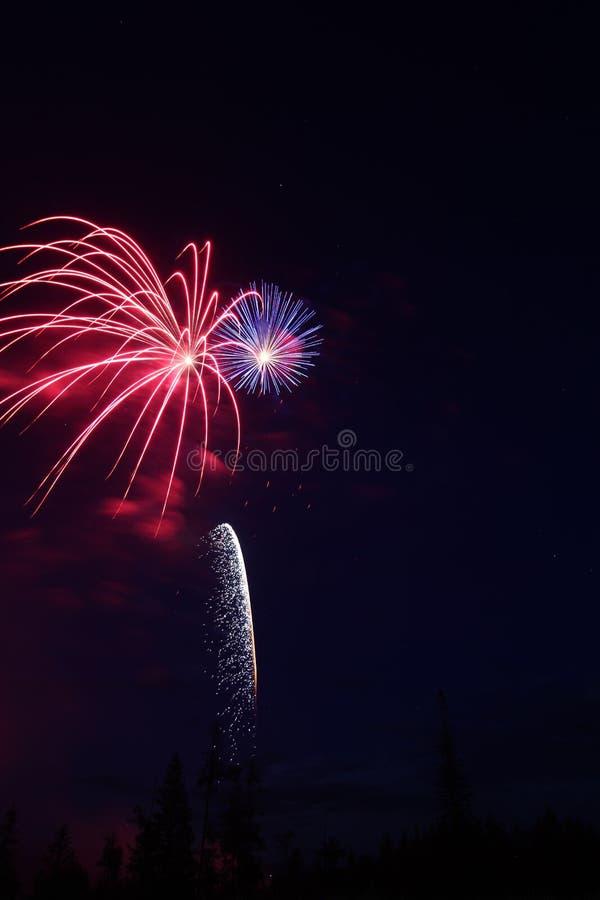 Fajerwerku świętowania pokaz obraz royalty free