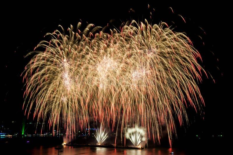 Fajerwerku festiwal przy Pattaya zdjęcia stock