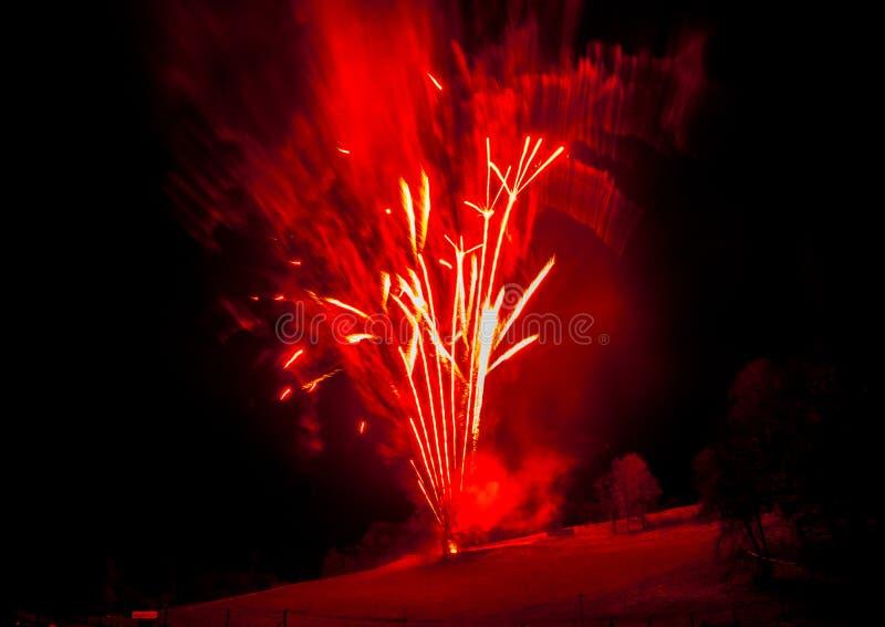 Fajerwerku pokaz zdjęcie royalty free