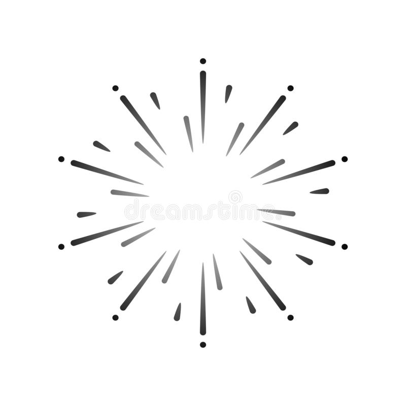 Fajerwerku wybuchu projekta elementu wektor ilustracji
