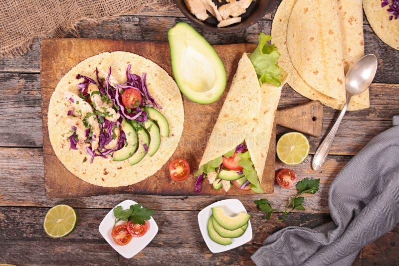 Fajita, burrito zdjęcie royalty free