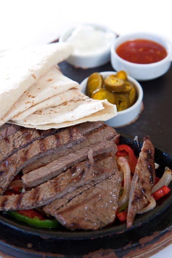 Fajita con le bistecche marinate immagini stock