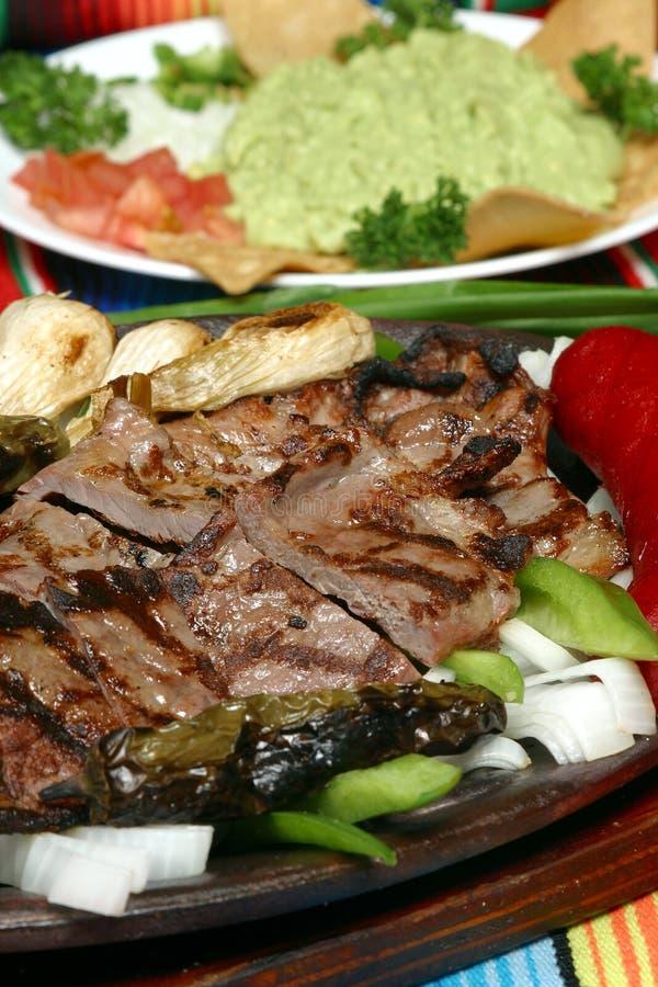 fajita grillad meat arkivbild