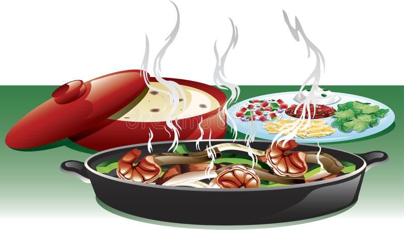 Fajita trio meal royalty free illustration