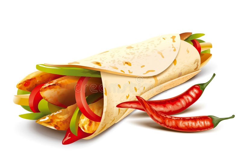 fajitas illustrazione di stock