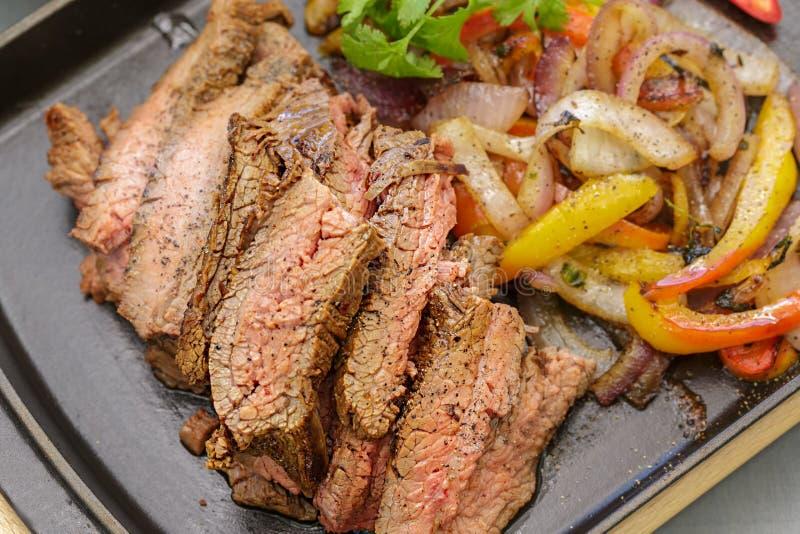Fajitas da carne imagem de stock