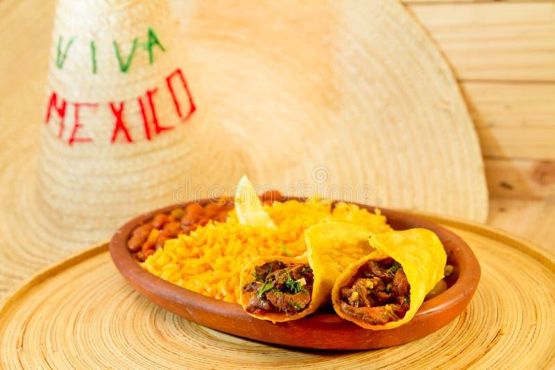 Fajitas messicani tradizionali del manzo dell'alimento immagine stock