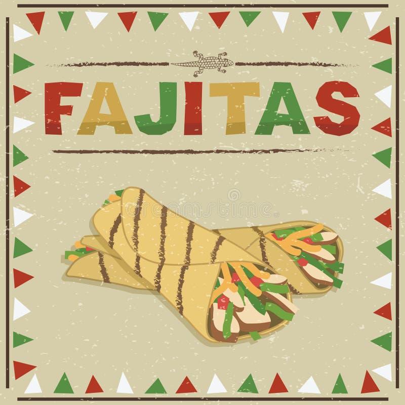 Fajitas mexicanos ilustração royalty free