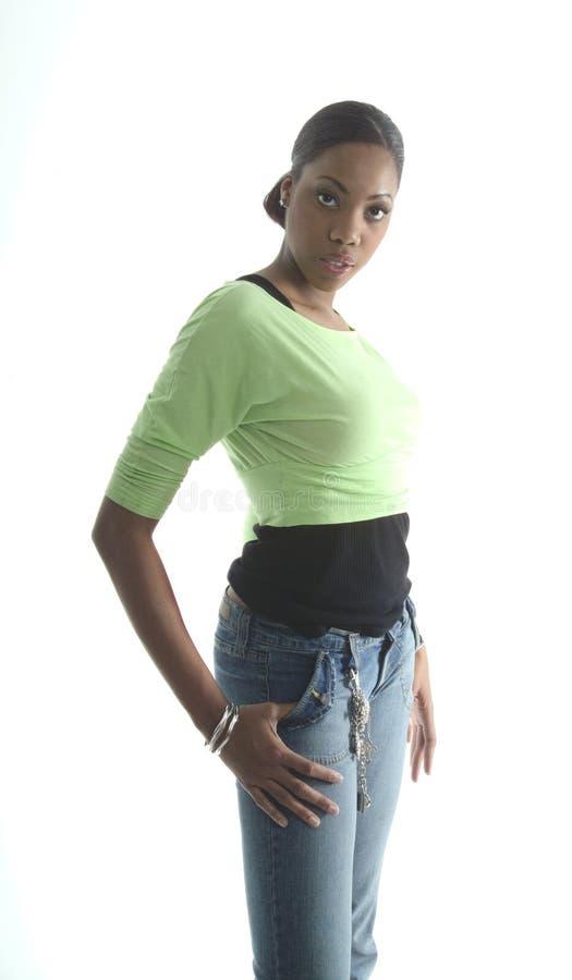 fajne dżinsy, dziewczyno fotografia stock