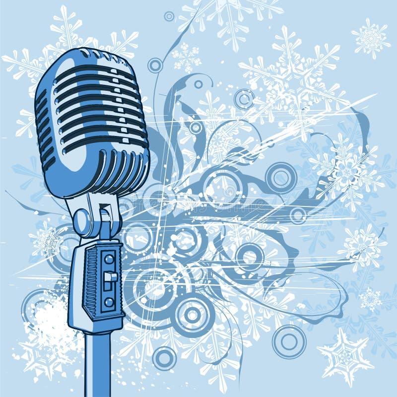 fajne rocznik mikrofonu royalty ilustracja