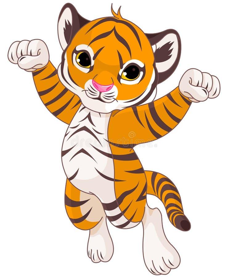 fajny tygrys royalty ilustracja