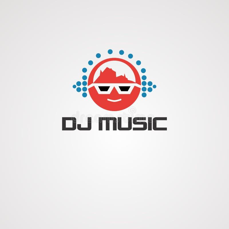 Fajtłapa logo muzyczny wektor, ikona, element, ikona i szablon dla firmy, ilustracja wektor