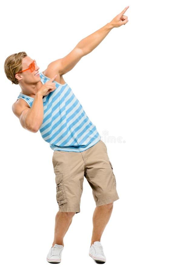 Fajtłapa mięśnia mężczyzna odizolowywający na białym tle fotografia stock