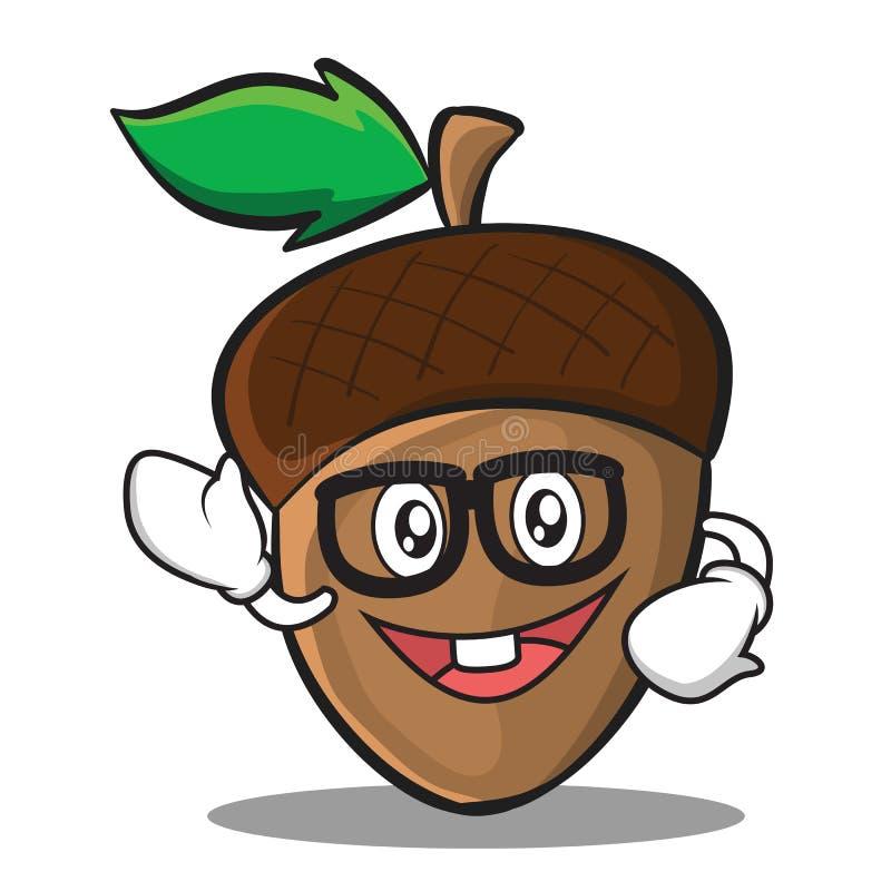 Fajtłapy acorn postać z kreskówki styl ilustracji