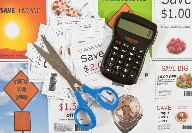 Download Fake Coupons stock image. Image of grocery, page, clipping - 15792027