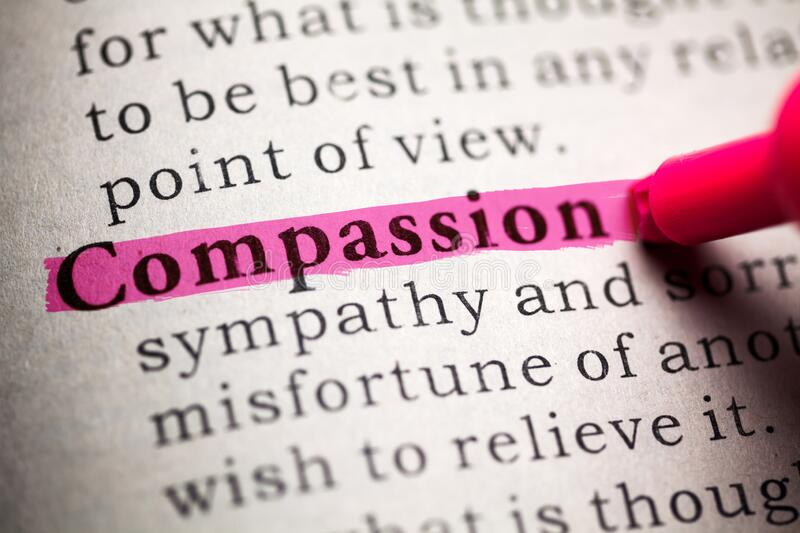 Compassion. Fake Dictionary, definition of the word compassion royalty free stock photos