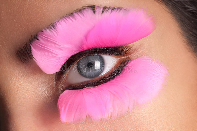 Fake Eyelashes stock photo