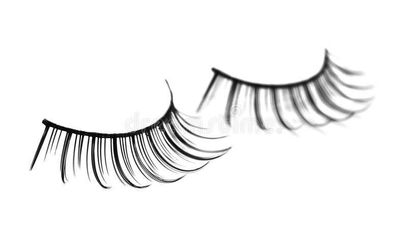Fake eyelashes stock images