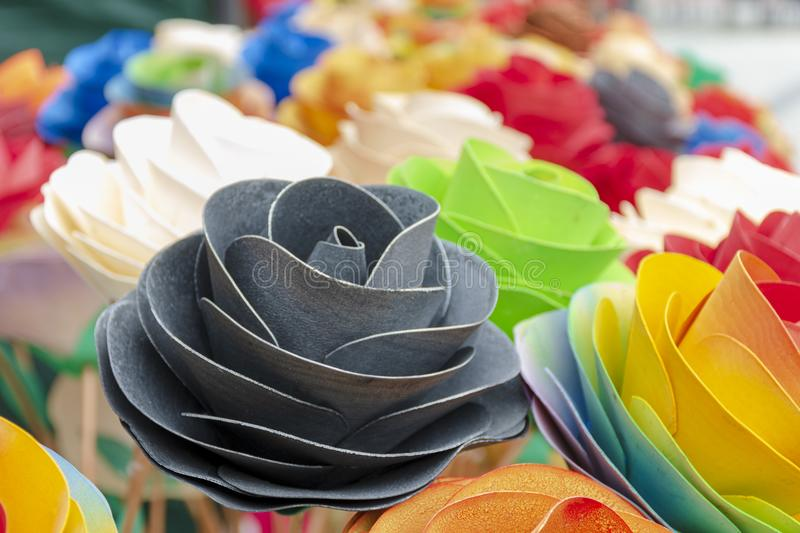 Fake flovers in decoration stock photos