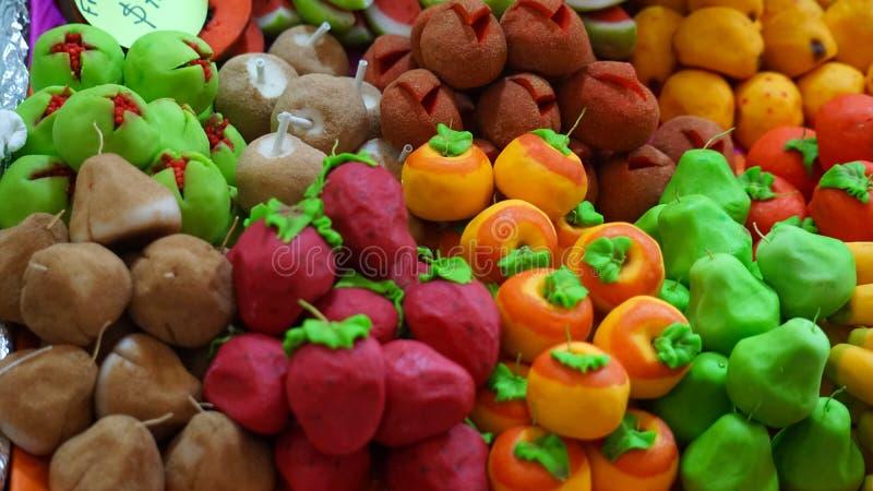 Fake fruits royalty free stock images