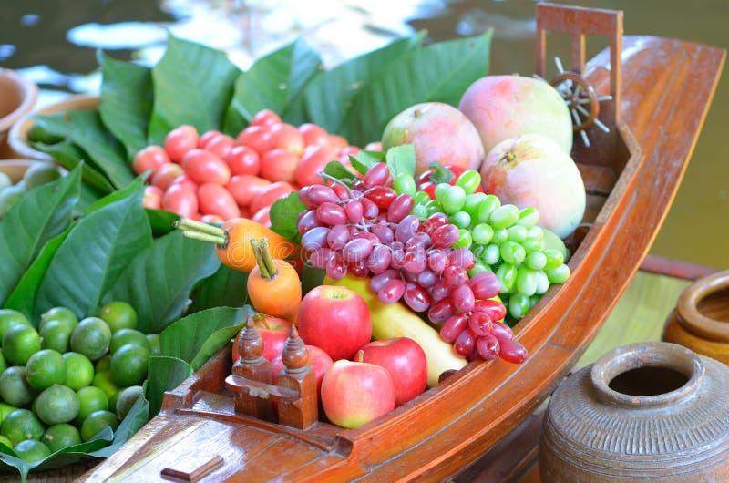 Fake fruits stock image