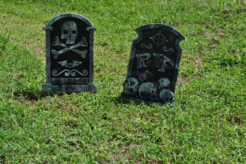 Download Fake  Halloween  Tombstones Stock Photo - Image: 26844932