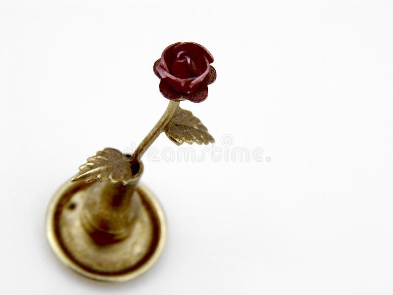 Fake metal rose stock image