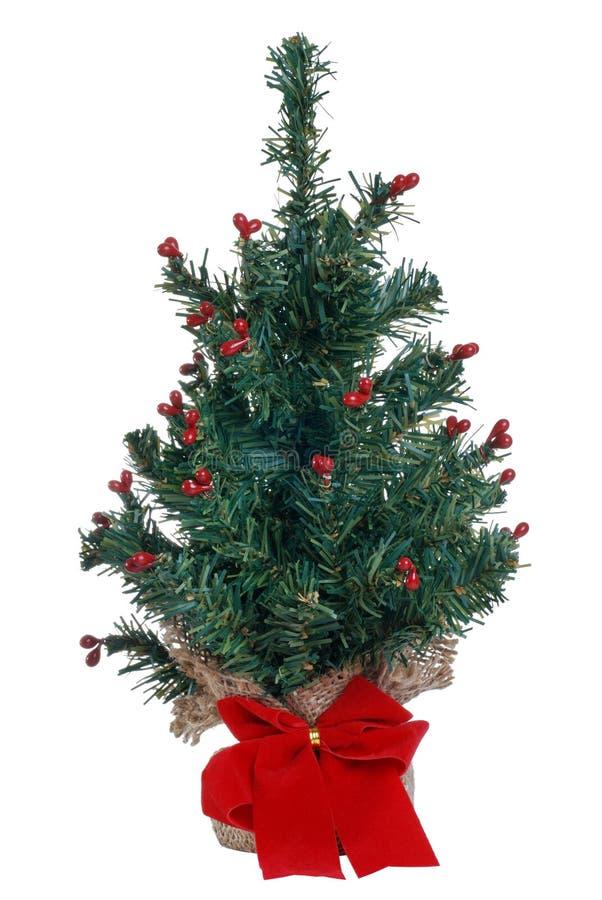 Fake mini christmas tree stock image