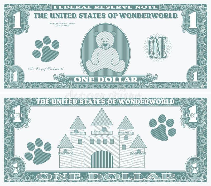 Fake money royalty free illustration