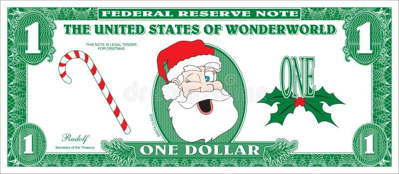 Fake money. Fake Children Money for Christmas stock illustration
