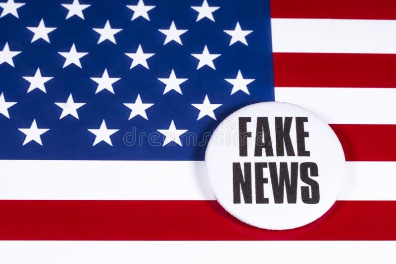 FAKE NEWS aux États-Unis photo stock